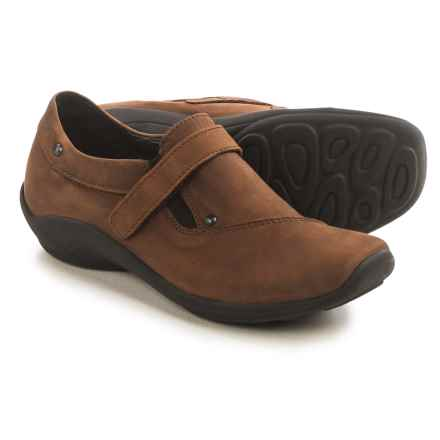 Wolky Louise Shoes - Leather, Slip-Ons (For Women) in Chocolate - Closeouts