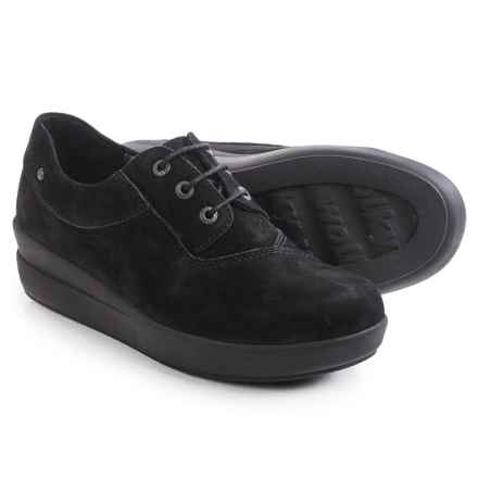 Wolky Lucida Sneakers - Leather (For Women) in Black Nubuck - Closeouts