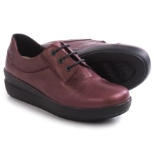Wolky Lucida Sneakers - Leather (For Women) in Bordo Metallic - Closeouts