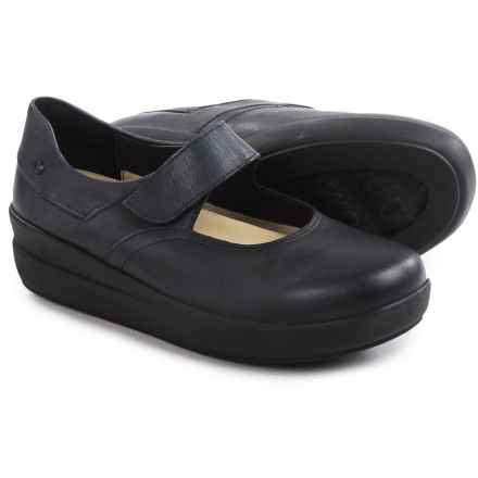 Wolky Lundy Mary Jane Shoes - Leather (For Women) in Black Metallic - Closeouts