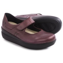 Wolky Lundy Mary Jane Shoes - Leather (For Women) in Bordo Metallic - Closeouts