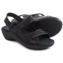 Wolky Mandalay Sandals - Leather (For Women) in Black - Closeouts