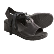 Wolky Mawenzi Wedge Sandals (For Women) in Black - Closeouts