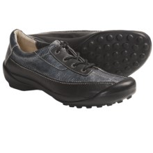 Wolky Moira Shoes - Leather, Lace-Ups (For Women) in Black/Silver - Closeouts