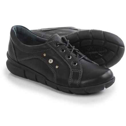 Wolky Niobe Leather Sneakers (For Women) in Black - Closeouts