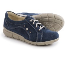 Wolky Niobe Leather Sneakers (For Women) in Blue Suede - Closeouts