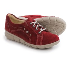 Wolky Niobe Leather Sneakers (For Women) in Oxblood Suede - Closeouts