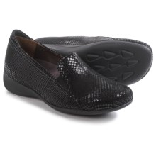 Wolky Perls Shoes - Leather, Slip-Ons (For Women) in Black Dessin - Closeouts