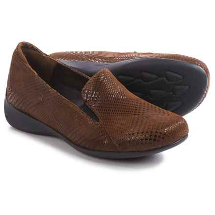 Wolky Perls Shoes - Leather, Slip-Ons (For Women) in Marron Dessin - Closeouts