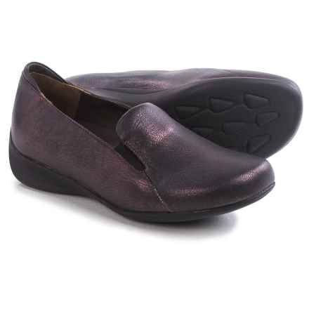Wolky Perls Shoes - Leather, Slip-Ons (For Women) in Purple Tevino - Closeouts