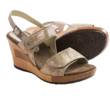 Wolky Rose Wedge Sandals - Leather (For Women) in Beige Caviar - Closeouts