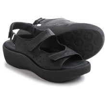 Wolky Ruby Leather Sandals (For Women) in Black - Closeouts