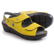Wolky Star Sling-Back Sandals - Leather (For Women) in Canary Yellow - Closeouts