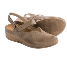 Wolky Surge Leather Shoes - Slip-Ons (For Women) in Beach - Closeouts
