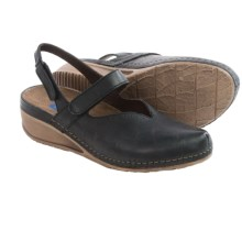 Wolky Surge Leather Shoes - Slip-Ons (For Women) in Black - Closeouts
