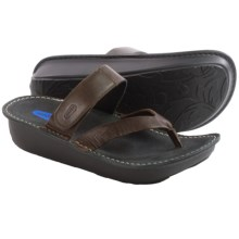 Wolky Tahiti Sandals - Leather (For Women) in Dark Brown - Closeouts
