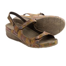 Wolky Tsunami Leather Sandals (For Women) in Bourbon Multi - Closeouts