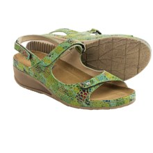 Wolky Tsunami Leather Sandals (For Women) in Green Multi - Closeouts