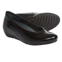 Wolky Valentine Wedge Shoes - Suede (For Women) in Black Leather - Closeouts