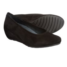 Wolky Valentine Wedge Shoes - Suede (For Women) in Black Suede - Closeouts