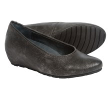 Wolky Valentine Wedge Shoes - Suede (For Women) in Gray Metallic - Closeouts