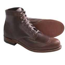 Wolverine 1000 Mile Addison Wingtip Boots - Factory 2nds, Leather (For Men) in Brown