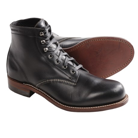 Wolverine 1000 Mile Lace-Up Boots - Factory 2nds, Leather (For Men) in Black