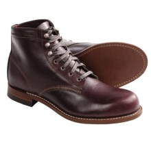 Wolverine 1000 Mile Lace-Up Boots - Factory 2nds, Leather (For Men) in Cordovan No. 8 - 2nds