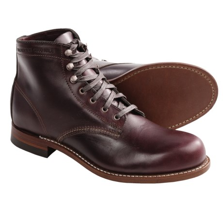 Wolverine 1000 Mile Lace-Up Boots - Factory 2nds, Leather (For Men) in Cordovan No. 8