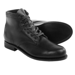 Wolverine 1000 Mile Lace-Up Boots - Leather, Factory 2nds (For Men) in Black/Black Sole