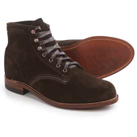 Wolverine 1000 Mile Original Boots - Suede (For Men) in Brown - Closeouts