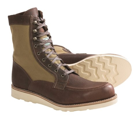 """Wolverine 1000 Mile Rowan 8"""" Boots - Factory 2nds, Leather-Canvas (For Men) in Brown"""