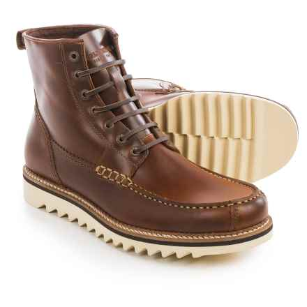 Wolverine 1883 Driscoll Moc Toe Boots - Leather (For Men) in Brown Leather - Closeouts