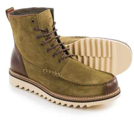 Wolverine 1883 Driscoll Moc Toe Boots - Leather (For Men) in Olive Suede - Closeouts