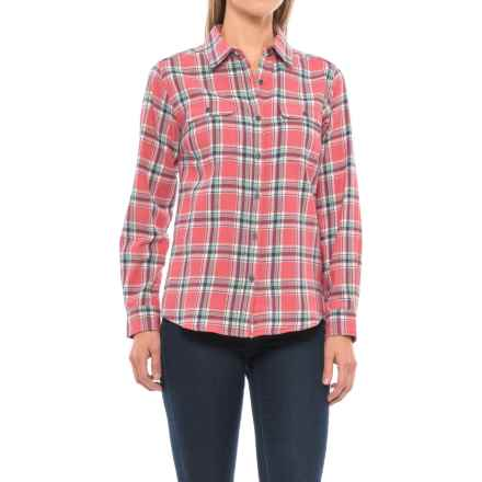 Wolverine Aurora Plaid Flannel Shirt - Long Sleeve (For Women) in Rose - Closeouts