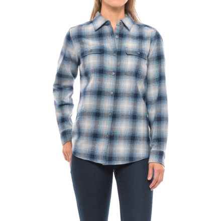 Wolverine Aurora Plaid Flannel Shirt - Long Sleeve (For Women) in Twilight - Closeouts