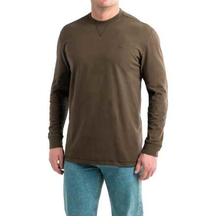 Wolverine Benton II Tech T-Shirt - Long Sleeve (For Men and Big Men) in Bison - Overstock