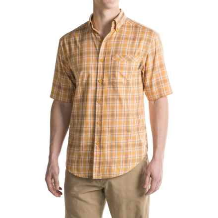 Wolverine Berkhart Shirt - Short Sleeve (For Men) in Tangerine - Overstock