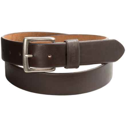 Wolverine Bevel-Edge Leather Belt (For Men) in Brown - Closeouts