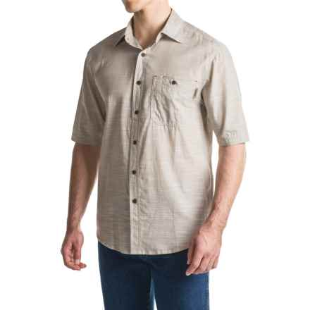 Wolverine Birchwood Shirt - Short Sleeve (For Men) in Chambray Khaki - Overstock