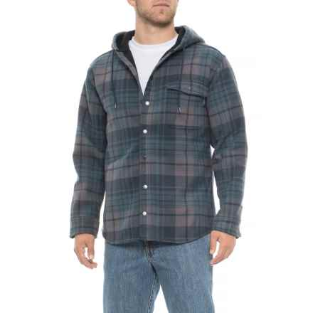 Wolverine Bucksaw Shirt Jacket (For Men) in Dusk Blue Plaid - Closeouts