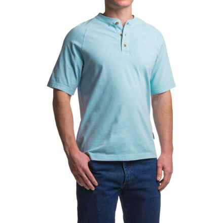 Wolverine Burke Henley Shirt - Short Sleeve (For Men) in Fog - Closeouts