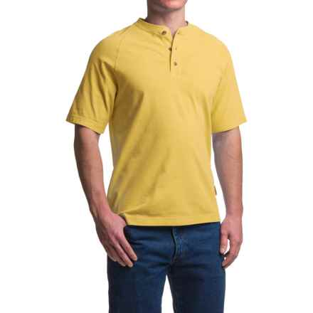 Wolverine Burke Henley Shirt - Short Sleeve (For Men) in Maize - Closeouts