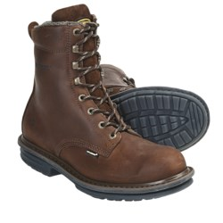 "Wolverine Compressor 8"" Boots - Plain Toe (For Men) in Brown"