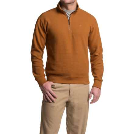 Wolverine Denton Shirt - Zip Neck, Long Sleeve (For Men) in Russet - Closeouts