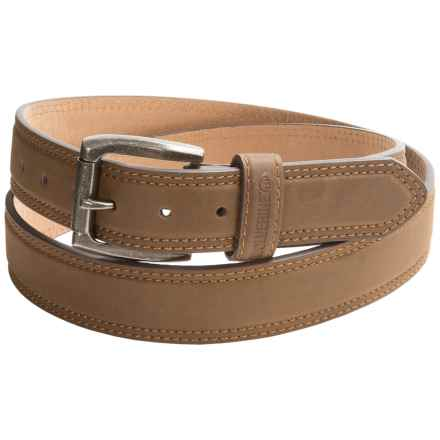 Wolverine Double-Stitch Leather Belt (For Men) in Brown - Closeouts