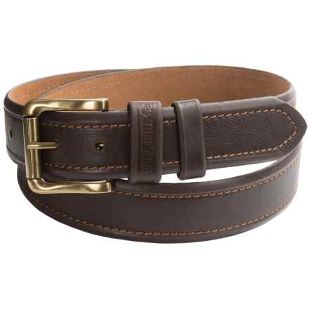 Wolverine Double Trapper Leather Belt (For Men) in Brown - Closeouts