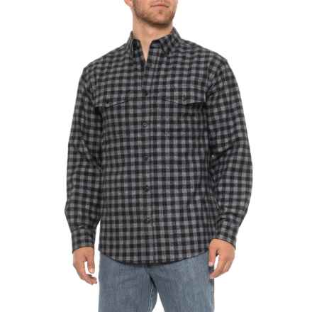 Wolverine Drummond Flannel Shirt - Long Sleeve (For Men) in Black - Closeouts