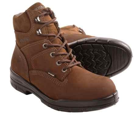 "Wolverine DuraShocks Slip-Resistant Work Boots - 6"" (For Men) in Brown - 2nds"