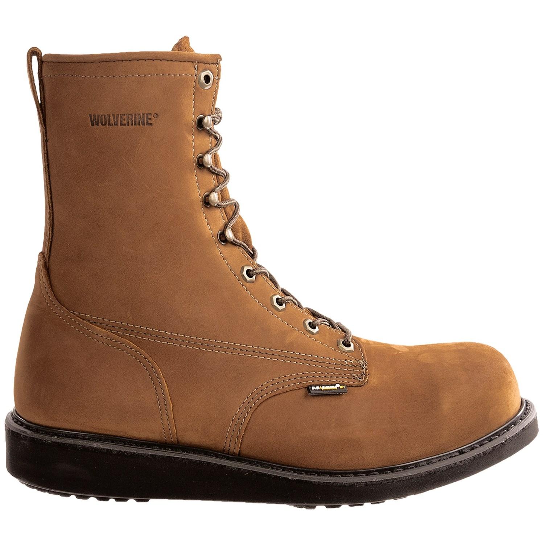 wolverine durashocks wedge heel work boots for 6799h